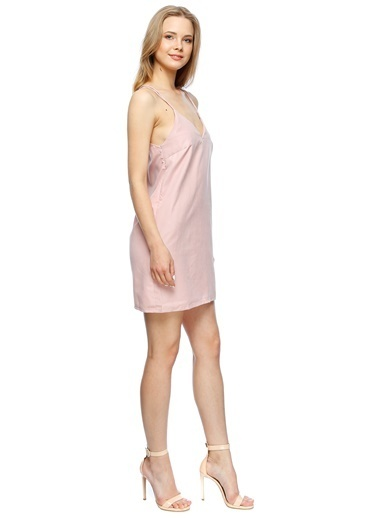 Missguided Askılı Mini Elbise Pembe